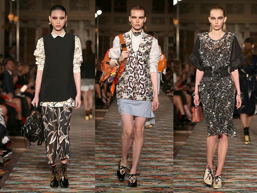 El diálogo entre la moda francesa e inglesa y sus influencias múltiples. Lo traducimos en jerseys sobre faldas florales,