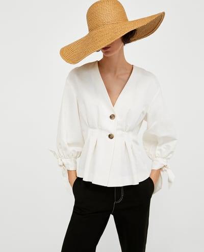 camisa abotonada zara